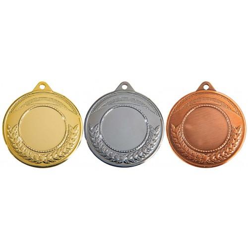 gouden, zilveren en bronze medailles met centerplaats